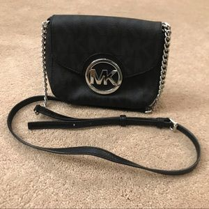Michael Kors small black crossbody bag